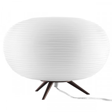 Настольная лампа Lightstar Arnia 805913, 1xE27x40W, коричневый, белый, металл, стекло