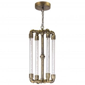 Подвесной светодиодный светильник Lightstar Condetta 740042, LED 40W, 3000K (теплый), латунь, прозрачный, металл, пластик