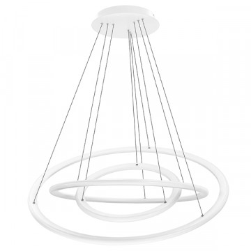 Подвесной светодиодный светильник Lightstar Saturno 748144 4000K (дневной), белый, металл, пластик