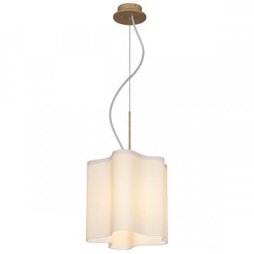 Подвесной светильник Lightstar Nubi Legno 802115, 1xE27x40W, коричневый, белый, дерево, стекло