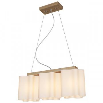 Подвесной светильник Lightstar Nubi Legno 802135, 3xE27x40W, коричневый, белый, дерево, стекло