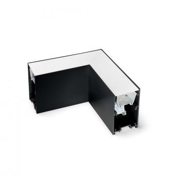 L-осветодиодное бразный соединитель для модульной системы Ideal Lux FLUO CORNER 3000K BK 191430 (FLUO CORNER 3000K BLACK), LED 8W 3000K 750lm CRI≥83, черный, металл с пластиком