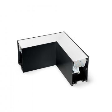 L-осветодиодное бразный соединитель для модульной системы Ideal Lux FLUO CORNER 4000K BK 191461 (FLUO CORNER 4000K BLACK), LED 8W 4000K 800lm CRI≥83, черный, металл с пластиком