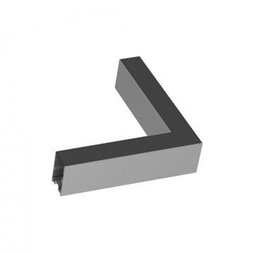 L-образный соединитель для модульной системы Ideal Lux FLUO CORNER BLINDED AL 191478 (FLUO CORNER BLINDED ALUMINUM), алюминий, металл
