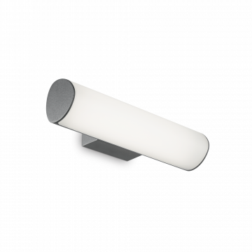 Настенный светодиодный светильник Ideal Lux ETERE AP ANTRACITE 4000K 172408 (ETERE AP1 ANTRACITE), IP44, LED 10,2W 4000K 702lm, темно-серый, белый, металл, пластик