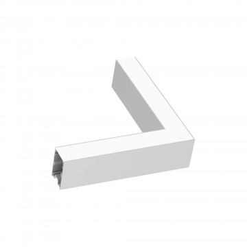 L-осветодиодное бразный соединитель для модульной системы Ideal Lux FLUO CORNER 3000K WHITE 191423, LED 8W 3000K 750lm CRI≥83, белый, металл, пластик