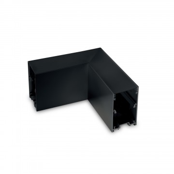 L-образный соединитель для модульной системы Ideal Lux FLUO CORNER BLINDED BK 191492 (FLUO CORNER BLINDED BLACK), черный, металл