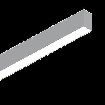 Светильник для модульной системы Ideal Lux FLUO WIDE 1200 3000K ALUMINUM 191447 3000K (теплый), алюминий, белый, металл, пластик