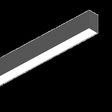 Светодиодный светильник для модульной системы Ideal Lux FLUO WIDE 1200 3000K BK 191997 (FLUO WIDE 1200 3000K BLACK), LED 26W 3000K 2800lm CRI≥83, черный, металл, пластик