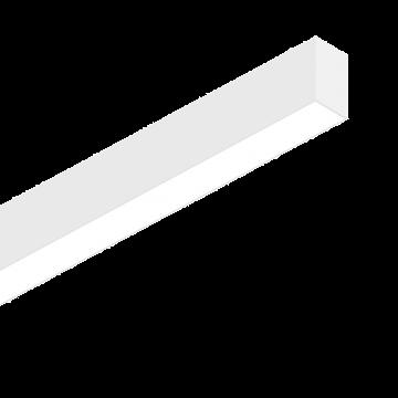 Светодиодный светильник для модульной системы Ideal Lux FLUO WIDE 1200 3000K WHITE 192437, LED 26W (теплый), белый, металл, пластик