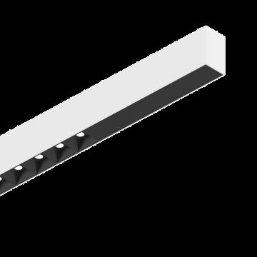 Светодиодный светильник для модульной системы Ideal Lux FLUO ACCENT 1800 4000K WH 192444 (FLUO ACCENT 1800 4000K WHITE), LED 30W 4000K 2400lm CRI≥83, белый, черно-белый, металл
