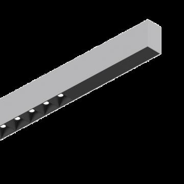 Светодиодный светильник для модульной системы Ideal Lux FLUO ACCENT 1800 3000K AL 192512 (FLUO ACCENT 1800 3000K ALUMINUM), LED 30W 3000K 2200lm CRI≥83, алюминий, металл