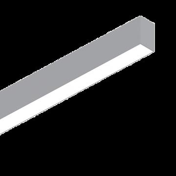 Светодиодный светильник для модульной системы Ideal Lux FLUO WIDE 1800 3000K ALUMINUM 192536, LED 36W (теплый), алюминий, белый, металл, пластик