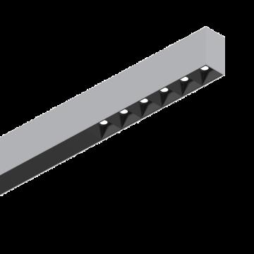 Светодиодный светильник для модульной системы Ideal Lux FLUO ACCENT 1200 4000K AL 192574 (FLUO ACCENT 1200 4000K ALUMINUM), LED 30W 4000K 2400lm CRI≥83, алюминий, металл