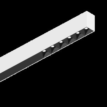 Светодиодный светильник для модульной системы Ideal Lux FLUO ACCENT 1200 3000K WHITE 192611, LED 30W (теплый), белый, металл