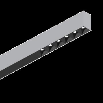 Светодиодный светильник для модульной системы Ideal Lux FLUO ACCENT 1200 3000K AL 192635 (FLUO ACCENT 1200 3000K ALUMINUM), LED 30W 3000K 2200lm CRI≥83, алюминий, металл