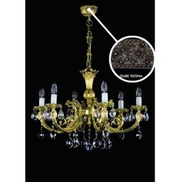Подвесная люстра Artglass ANASTASIA VI. DARK PATINA SP, 6xE14x40W, кристаллы SPECTRA Swarovski