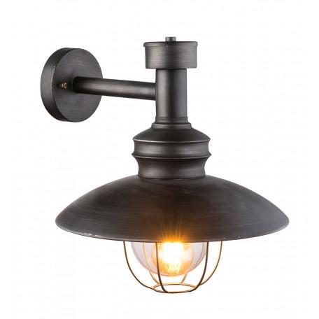 Настенный фонарь Globo Jaden 15019W, IP44, 1xE27x60W, металл, металл со стеклом