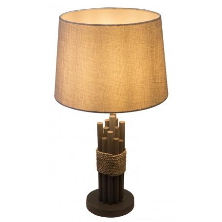Настольная лампа Globo Livia 15255T, 1xE27x60W, дерево, текстиль