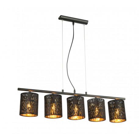 Подвесной светильник Globo Tuxon 15264-5H, 5xE14x25W, металл, текстиль