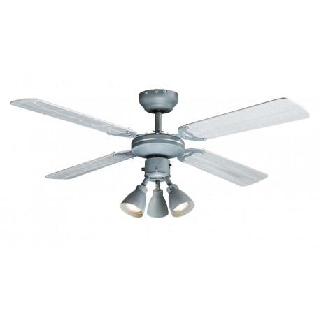 Потолочная люстра-вентилятор Globo Harvey 03357, 3xGU10x50W, дерево, металл