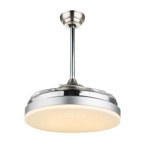 Потолочный светодиодный светильник-вентилятор с пультом ДУ Globo Cabrera 0350, металл, пластик