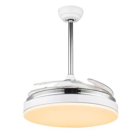Потолочный светодиодный светильник-вентилятор с пультом ДУ Globo Cabrera 0351, металл, пластик
