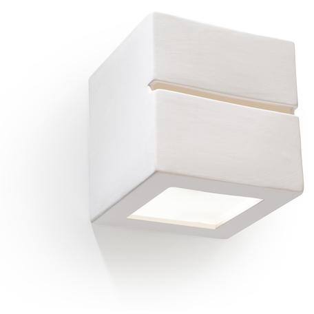 Настенный светильник Sollux Line SL.0230, 1xE27x60W, белый, керамика