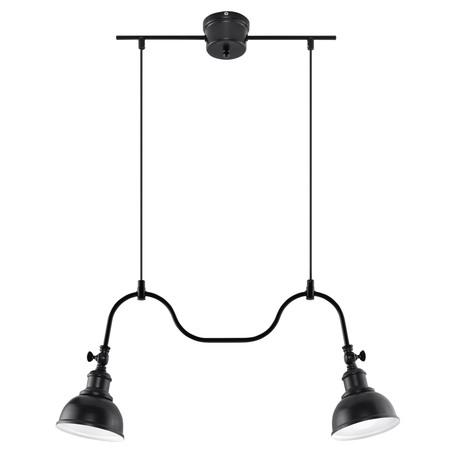 Подвесной светильник Sollux Mare SL.0308, 2xE27x60W, черный, металл