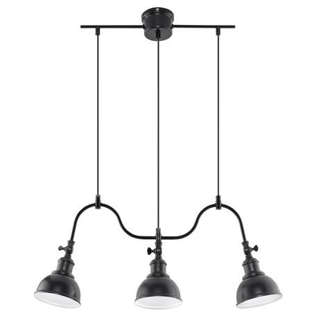 Подвесной светильник Sollux Mare SL.0309, 3xE27x60W, черный, металл