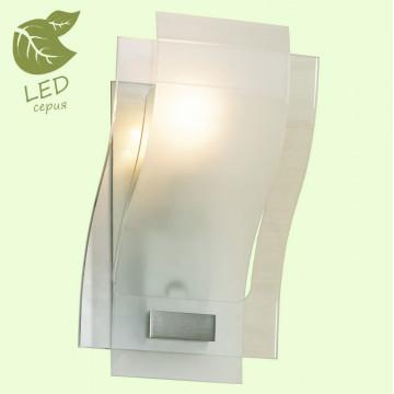 Настенный светильник Lussole Loft Tarchi GRLSA-0861-01, IP21, 1xE27x10W, никель, белый, металл, стекло