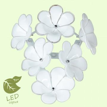 Настенный светильник Lussole Loft Asinara GRLSA-5101-01, IP21, 1xG9x5W, белый, металл, стекло