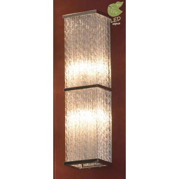 Настенный светильник Lussole Loft Lariano GRLSA-5401-02, IP21, 2xG9x5W, хром, прозрачный, металл, стекло