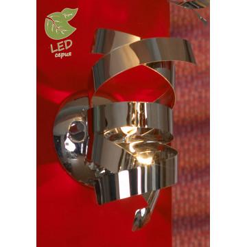 Настенный светильник Lussole Loft Briosco GRLSA-5901-01, IP21, 1xG9x5W, хром, черный хром, металл