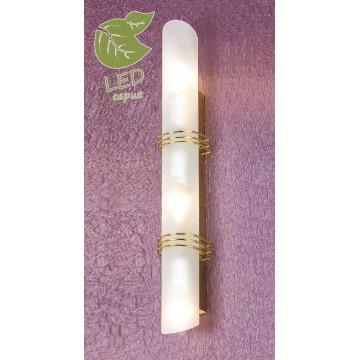 Настенный светильник Lussole Loft Selvino GRLSA-7701-03, IP21, 3xE14x6W, золото, белый, металл, стекло