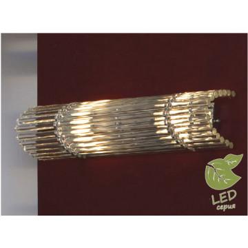 Настенный светильник Lussole Loft Popoli GRLSC-3401-02, IP21, 2xE14x6W, хром, прозрачный, металл, стекло