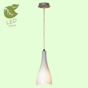Подвесной светильник Lussole Loft Rimini GRLSF-1106-01, IP21, 1xE27x10W, хром, белый, металл, стекло