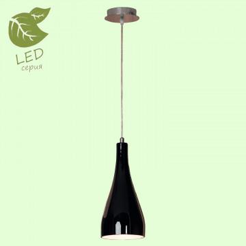 Подвесной светильник Lussole Loft Rimini GRLSF-1196-01, IP21, 1xE27x10W, хром, черный, металл, стекло
