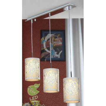 Подвесной светильник Lussole Loft Vetere GRLSF-2306-03, IP21, 3xE14x6W, хром, белый, металл, металл с пластиком