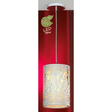 Подвесной светильник Lussole Loft Vetere GRLSF-2316-01, IP21, 1xE27x10W, хром, белый, металл, металл с пластиком