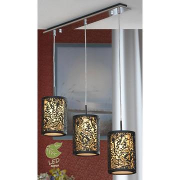 Подвесной светильник Lussole Loft Vetere GRLSF-2376-03, IP21, 3xE14x6W, черный, металл, металл с пластиком