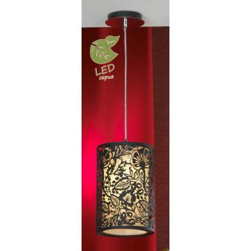 Подвесной светильник Lussole Loft Vetere GRLSF-2386-01, IP21, 1xE27x10W, черный, металл, металл с пластиком