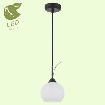 Подвесной светильник Lussole Loft Bagheria GRLSF-6296-01, IP21, 1xE14x6W, коричневый, белый, металл, стекло