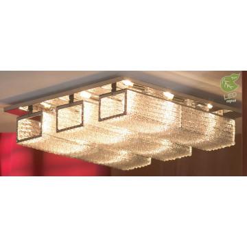 Потолочная люстра Lussole Loft Lariano GRLSA-5407-09, IP21, 9xG9x5W, хром, прозрачный, металл, стекло