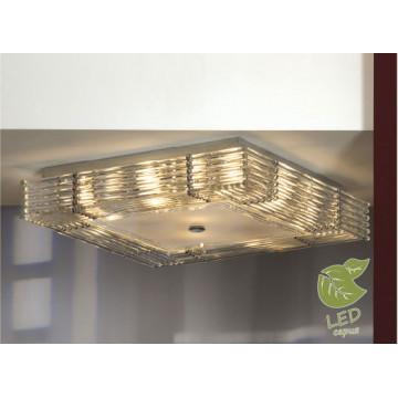 Потолочный светильник Lussole Loft Popoli GRLSC-3407-10, IP21, 10xE14x6W, хром, прозрачный, металл, стекло