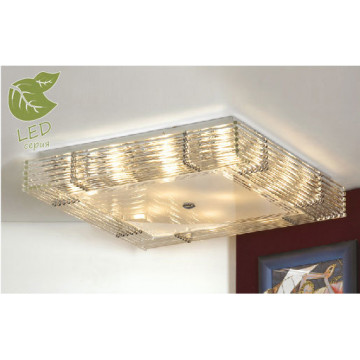 Потолочный светильник Lussole Loft Popoli GRLSC-3407-16, IP21, 16xE14x6W, хром, прозрачный, металл, стекло