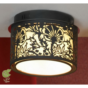Потолочный светильник Lussole Loft Vetere GRLSF-2377-04, IP21, 4xE14x6W, черный, металл, металл с пластиком