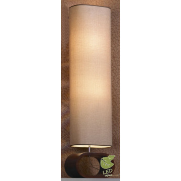 Торшер Lussole Loft Nulvi GRLSF-2105-02, IP21, 2xE27x10W, коричневый, бежевый, дерево, текстиль
