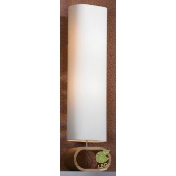 Торшер Lussole Loft Nulvi GRLSF-2115-02, IP21, 2xE27x10W, коричневый, белый, дерево, текстиль