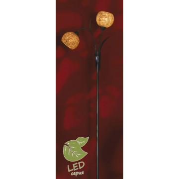 Торшер Lussole Loft Bagheria GRLSF-6205-02, IP21, 2xE14x7W, коричневый, оранжевый, металл, стекло